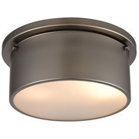 ELK 12110/2 Signature 2 Light 10 inch Black Nickel Flush Mount Ceiling Light