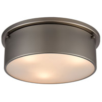 ELK 12111/3 Signature 3 Light 14 inch Black Nickel Flush Mount Ceiling Light