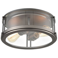 ELK 12112/2 Signature 2 Light 13 inch Black Nickel Flush Mount Ceiling Light
