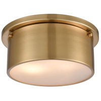 ELK 12120/2 Signature 2 Light 10 inch Satin Brass Flush Mount Ceiling Light