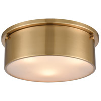 ELK 12121/3 Signature 3 Light 14 inch Satin Brass Flush Mount Ceiling Light