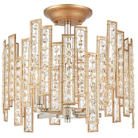 ELK 12131/4 Equilibrium 4 Light 14 inch Matte Gold with Polished Nickel Semi Flush Mount Ceiling Light
