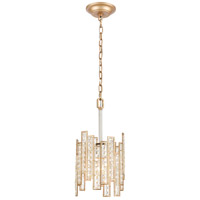 ELK 12132/1 Equilibrium 1 Light 8 inch Matte Gold with Polished Nickel Mini Pendant Ceiling Light