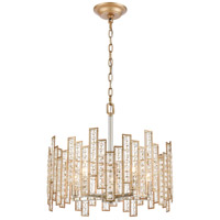 ELK 12134/5 Equilibrium 5 Light 19 inch Matte Gold with Polished Nickel Pendant Ceiling Light