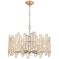 ELK 12135/6 Equilibrium 6 Light 24 inch Matte Gold with Polished Nickel Pendant Ceiling Light