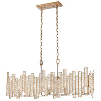 ELK 12136/5 Equilibrium 5 Light 34 inch Matte Gold with Polished Nickel Island Light Ceiling Light