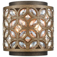 Rosslyn 2 Light 8 inch Mocha and Deep Bronze Wall Sconce Wall Light
