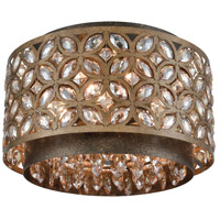 ELK 12151/4 Rosslyn 4 Light 14 inch Mocha with Deep Bronze Flush Mount Ceiling Light