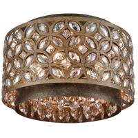 ELK 12151/4 Rosslyn 4 Light 14 inch Mocha with Deep Bronze Flush Mount Ceiling Light