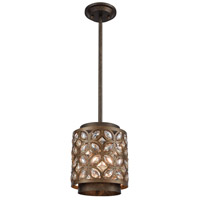 ELK 12152/1 Rosslyn 1 Light 8 inch Mocha with Deep Bronze Mini Pendant Ceiling Light