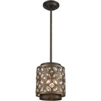 ELK 12152/1 Rosslyn 1 Light 8 inch Mocha with Deep Bronze Mini Pendant Ceiling Light