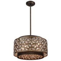 Rosslyn 5 Light 17 inch Mocha and Deep Bronze Pendant Ceiling Light