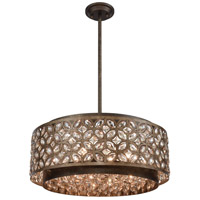 ELK 12154/6 Rosslyn 6 Light 22 inch Mocha with Deep Bronze Pendant Ceiling Light
