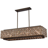 ELK 12155/8 Rosslyn 8 Light 40 inch Mocha with Deep Bronze Billiard Light Ceiling Light