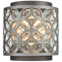 ELK 12160/2 Rosslyn 2 Light 8 inch Weathered Zinc with Matte Silver ADA Sconce Wall Light