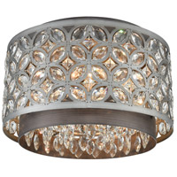 ELK 12161/4 Rosslyn 4 Light 14 inch Weathered Zinc with Matte Silver Flush Mount Ceiling Light