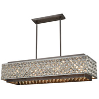ELK 12165/8 Rosslyn 8 Light 40 inch Weathered Zinc with Matte Silver Island Light Ceiling Light
