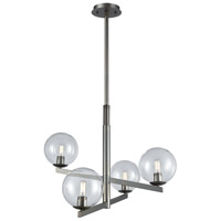 Globes Of Light 4 Light 28 inch Brushed Black Nickel Chandelier Ceiling Light