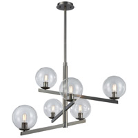 ELK 12182/6 Globes of Light 6 Light 38 inch Brushed Black Nickel Chandelier Ceiling Light