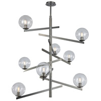 Brushed Black Nickel Glass Chandeliers
