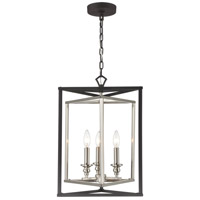 ELK 12235/3 Salinger 3 Light 16 inch Charcoal with Satin Nickel Pendant Ceiling Light