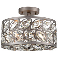 Crisanta 4 Light 14 inch Weathered Zinc Semi Flush Mount Ceiling Light