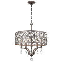 Crisanta 5 Light 19 inch Weathered Zinc Pendant Ceiling Light