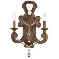 ELK 12254/2 San Sebastian 14 inch Spanish Antiquewood/Dark Bronze Sconce Wall Light