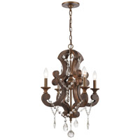 ELK 12255/4 San Sebastian 19 inch Spanish Antiquewood/Dark Bronze Chandelier Ceiling Light