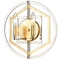 ELK 12260/2 Geosphere 13 inch Polished Nickel/Parisian Gold Leaf ADA Sconce Wall Light