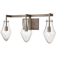 Weathered Zinc Culmination Bathroom Vanity Lights