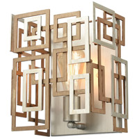 ELK 12300/1 Gridlock 9 inch Matte Gold/Aged Silver Sconce Wall Light