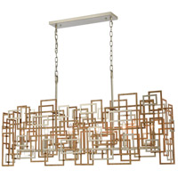 ELK 12306/6 Gridlock 44 inch Matte Gold/Aged Silver Island Light Ceiling Light