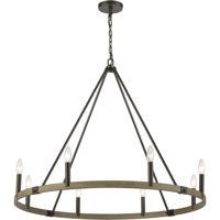 ELK 12317/8 Transitions 36 inch Oil Rubbed Bronze/Aspen Chandelier Ceiling Light