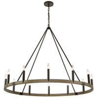 ELK 12318/12 Transitions 50 inch Oil Rubbed Bronze/Aspen Chandelier Ceiling Light