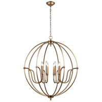 ELK 12844/8 Stanton 8 Light 35 inch Matte Gold Chandelier Ceiling Light