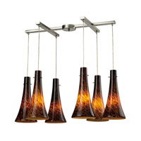 ELK Lighting Tromba 6 Light Pendant in Satin Nickel 140-6ES