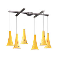 ELK Lighting Tromba 6 Light Pendant in Satin Nickel 140-6YW