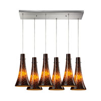 ELK Lighting Tromba 6 Light Pendant in Satin Nickel 140-6RC-ES