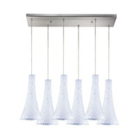 ELK Lighting Tromba 6 Light Pendant in Satin Nickel 140-6RC-SW
