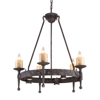 Cambridge 10 Light 33 inch Moonlit Rust Chandelier Ceiling Light
