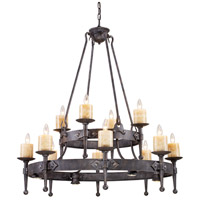 ELK Lighting Cambridge 12 + 12 Light Chandelier in Moonlit Rust 14006/8+4+4