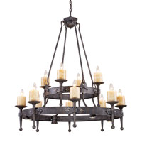 Cambridge 16 Light 42 inch Moonlit Rust Chandelier Ceiling Light