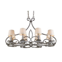 Legacy 8 Light 43 inch Rustic Silver Chandelier Ceiling Light