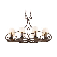 ELK Lighting Legacy 8 Light Chandelier in Dark Umber 14025/8