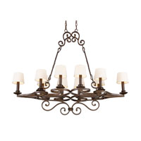 ELK Lighting Legacy 10 Light Chandelier in Dark Umber 14026/10