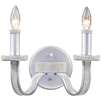 ELK 14027/2 Encasement 2 Light 12 inch Silver Sconce Wall Light