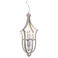 ELK 14028/4 Encasement 4 Light 15 inch Silver Chandelier Ceiling Light