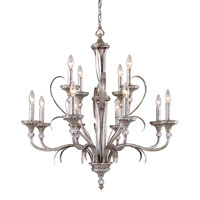 ELK Lighting Oasis 12 Light Chandelier in Antique Silver 14038/8+4 photo thumbnail