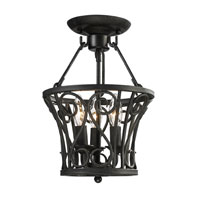 ELK Lighting Santiago 3 Light Semi-Flush Mount in Rust 14047/3